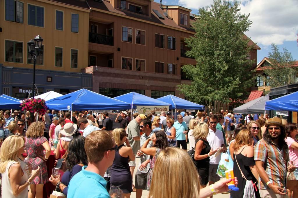 A crowd at a festival in Breckenridge, Colorado