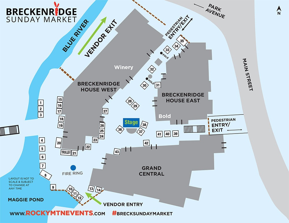 2021 Breck Sunday Market Map